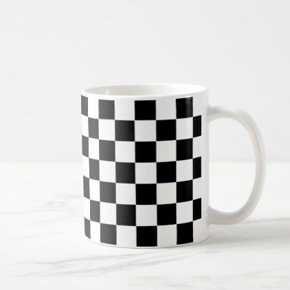 Black and White Checkerboard Coffee Mug - minimal gifts style ...