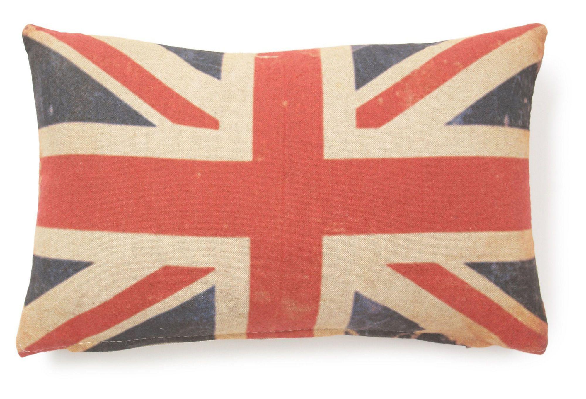 One kings lane university place british flag x pillow multi