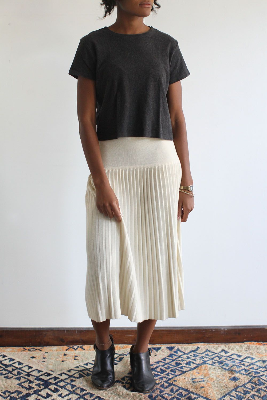 ae39b87db SomeLikeUs Vintage Cream Dropwaist Knife Pleated Skirt on | skirting ...