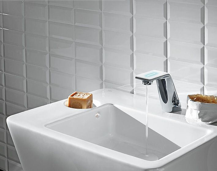 Alessi Bagno ~ Wash basin faucet il bagno alessi sense by oras. faucet is opened