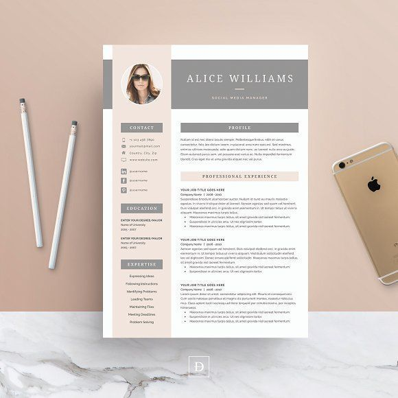 Word Resume \ Cover Letter Template by DemeDev on @creativemarket - word resume cover letter template