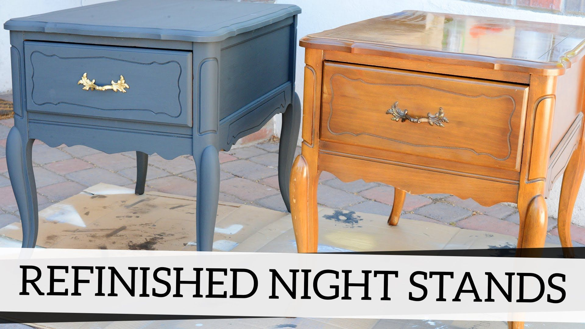 Refinished Nightstands with Annie Sloan Chalk Paint - YouTube