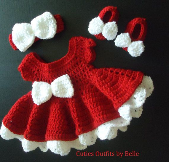 65f76ec96 Crochet Baby Dress, Take Home Baby Outfit, Coming Home Dress, Infant Outfits,  Crochet Newborn Outfit, Photo Prop Outfit, Infant Christmas