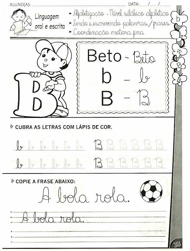 Atividades De Alfabetizacao Com As Letras B C D E F Com