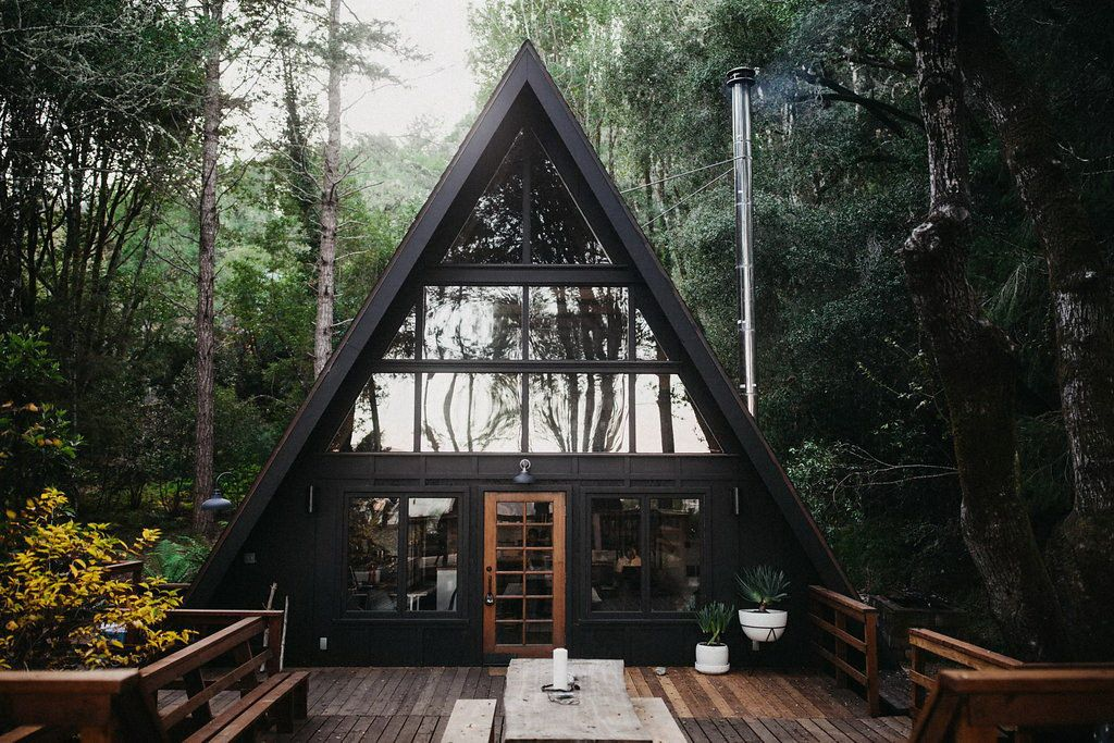 Inverness A Frame Cabin By Blythe Design Co A Frame Cabin Cabin Homes Beautiful Cabins