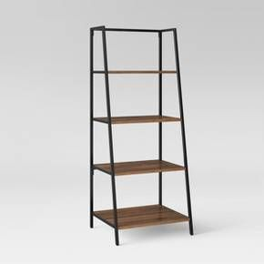 Gentle Slants And Right Angles Make This Ladder Style Bookshelf An Exciting Alternative To Your Traditional