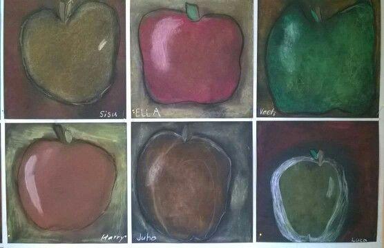 Kuivapastelli, omenat