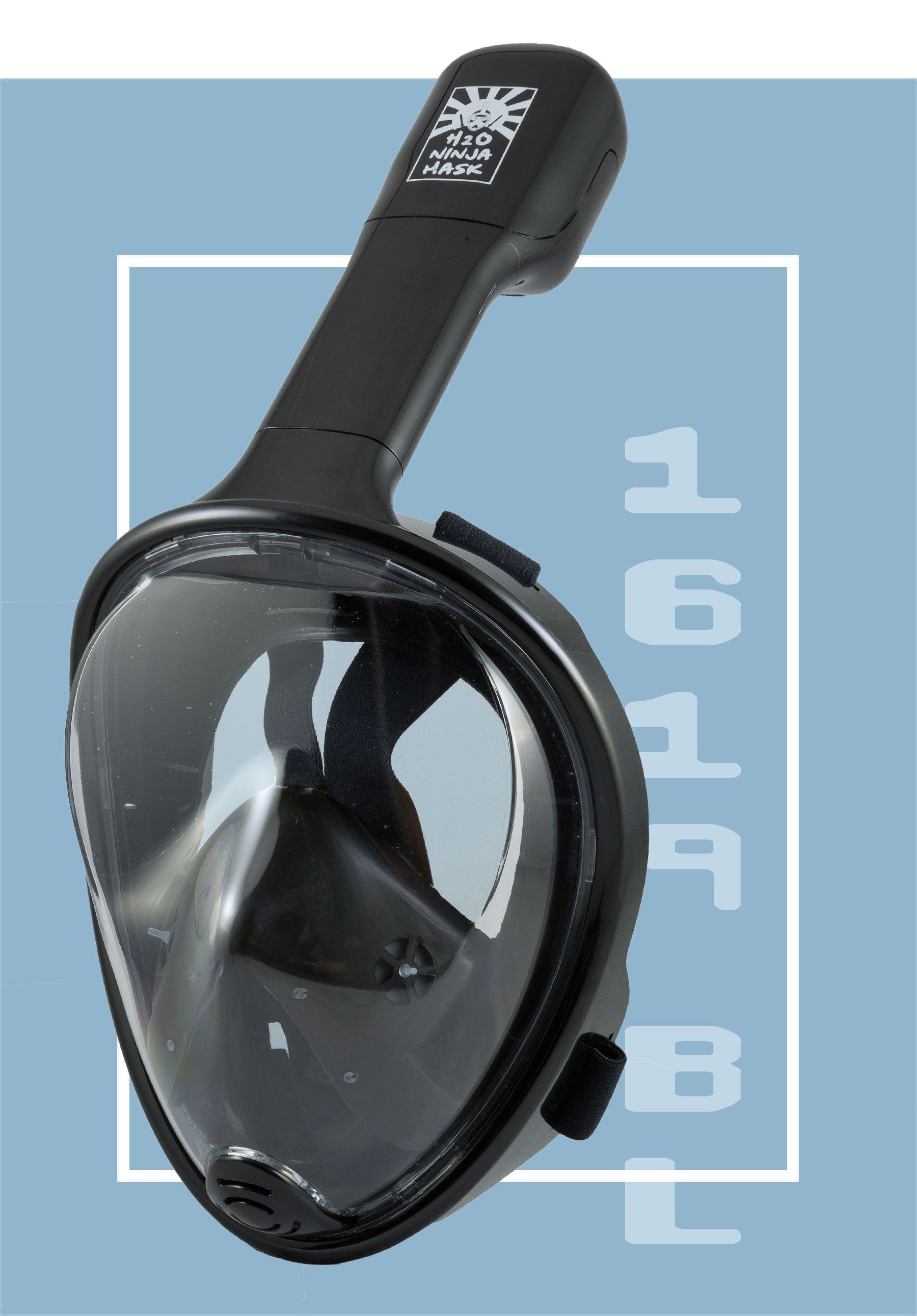 Full Face Snorkel Mask – H2O Ninja Mask Black
