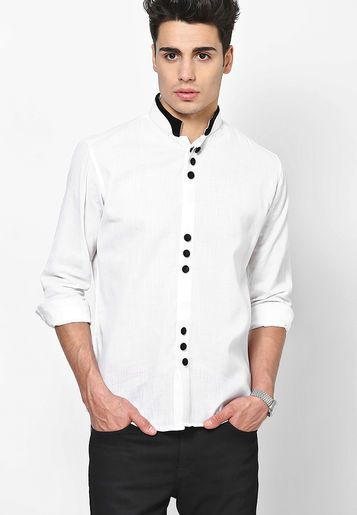 DASTAK White Party Wear Shirt - Buy Men Clubwear Shirts Online ...