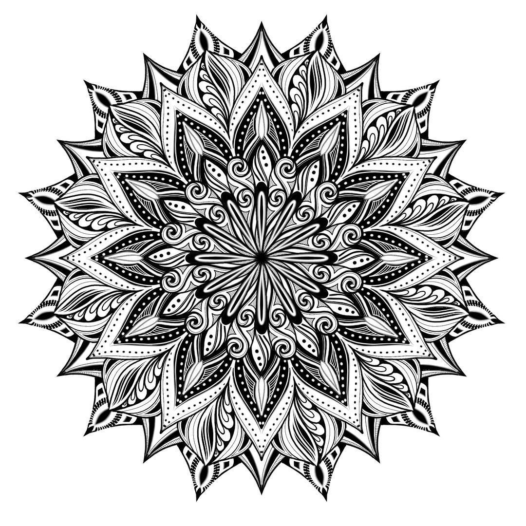 A Lil Amaziographapp Afternoon I Like That You Can Make Each Layer A Different Grid Video Clip To F Mandala Pattern Mandala Coloring Mandala Flower Tattoos