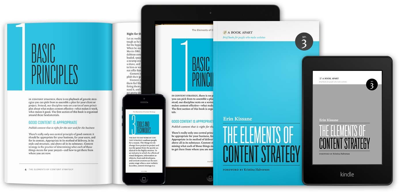 A Book Apart The Elements Of Content Strategy Content Strategy Ebook Design Web Design Books