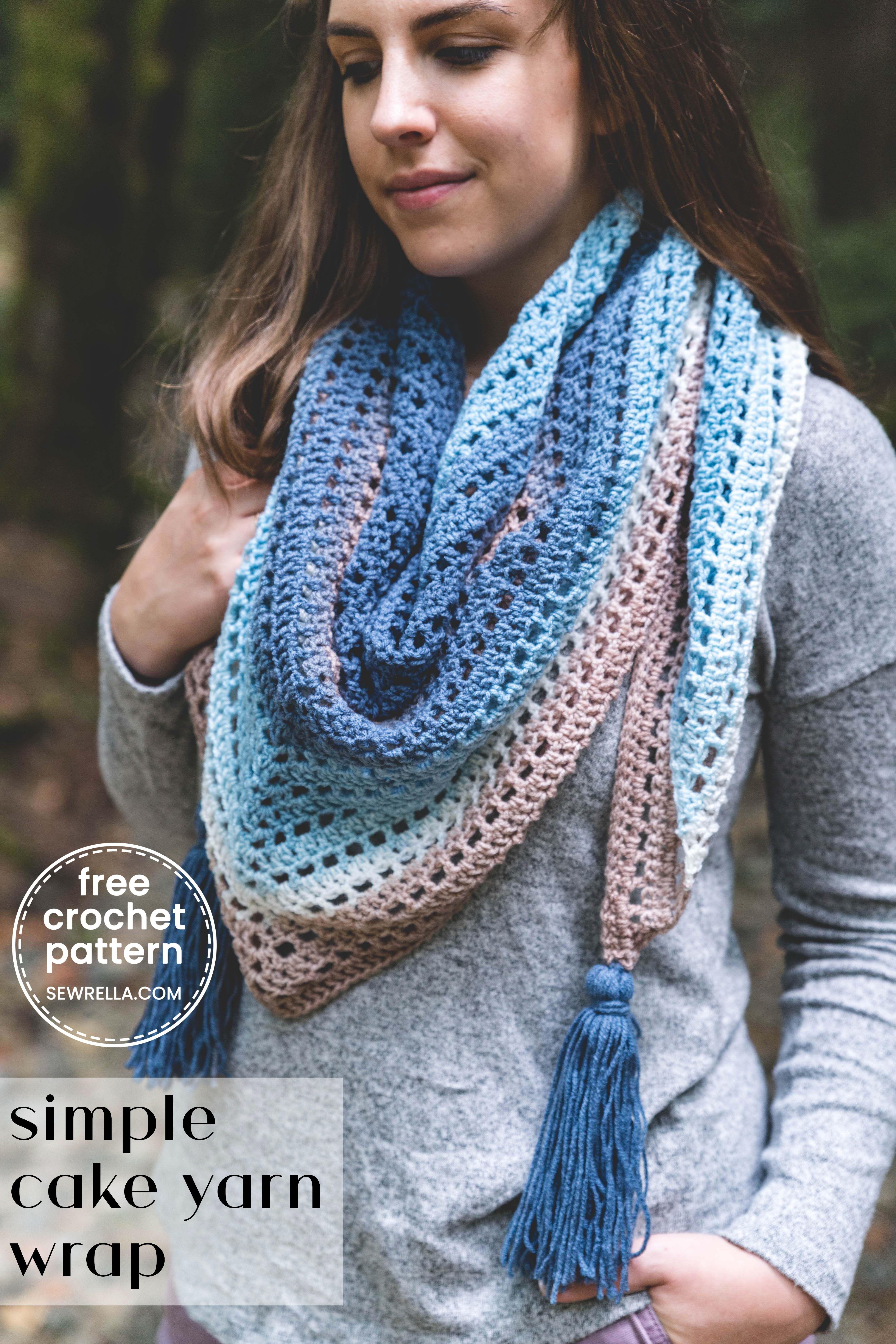 Crochet Beginner Fade Shawl - Free Crochet Pattern &Bull; Sewrella Cakeyarn - Diy Crafts