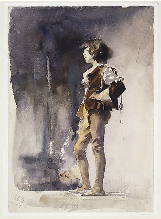 Boy in Costume John Singer Sargent (American, Florence 1856–1925 London) Date: early 1880s Medium: Watercolor and graphite on white wove paper