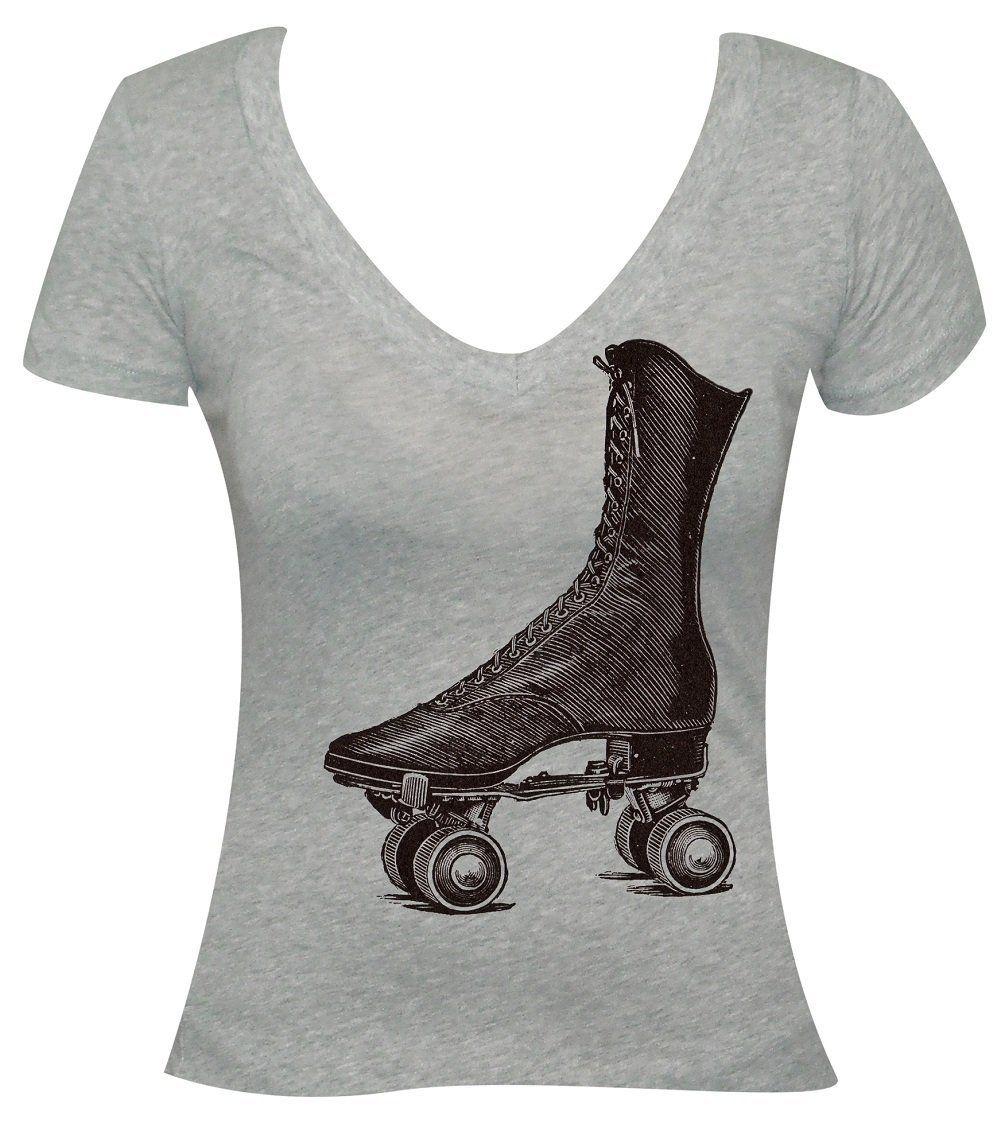 Junior's Annex Clothing Victorian Rollerskate Vintage Roller Derby Skate Art Design