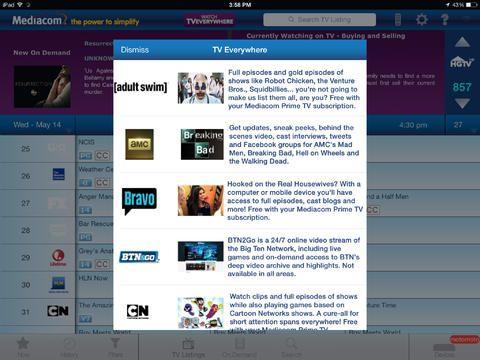 myTV Guide iPad Ipad, Desktop screenshot