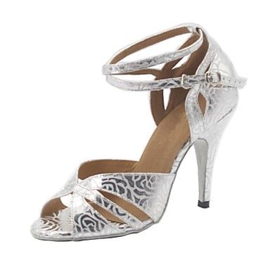 Customized+Woman's+Silver+Leatherette+Ballroom+Dance+Shoes+–+USD+$+39.99