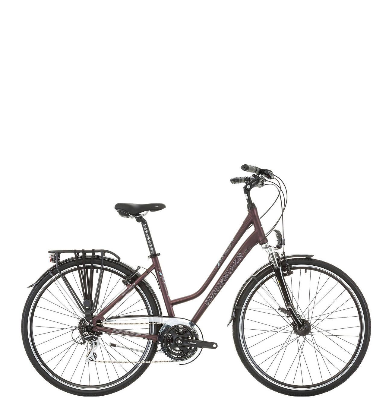 28 Zoll Damen Trekking Fahrrad 24 Gang Schockblaze Venue Trekking Fahrrad Fahrrad Und City Fahrrad