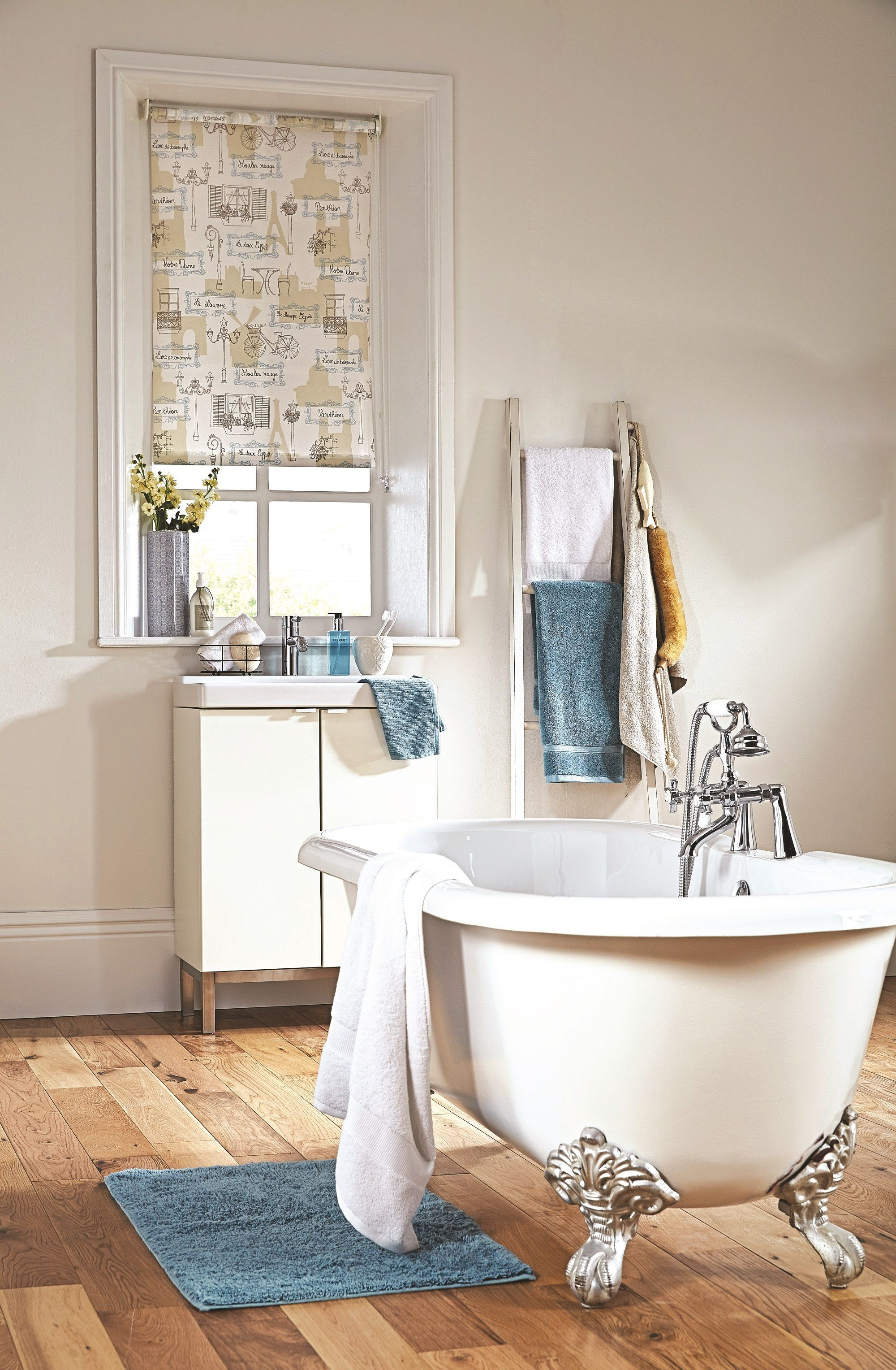 Notre Dame Roller Blinds From Apollo Patterned Neutral Bathroom Contemporary Inspiration
