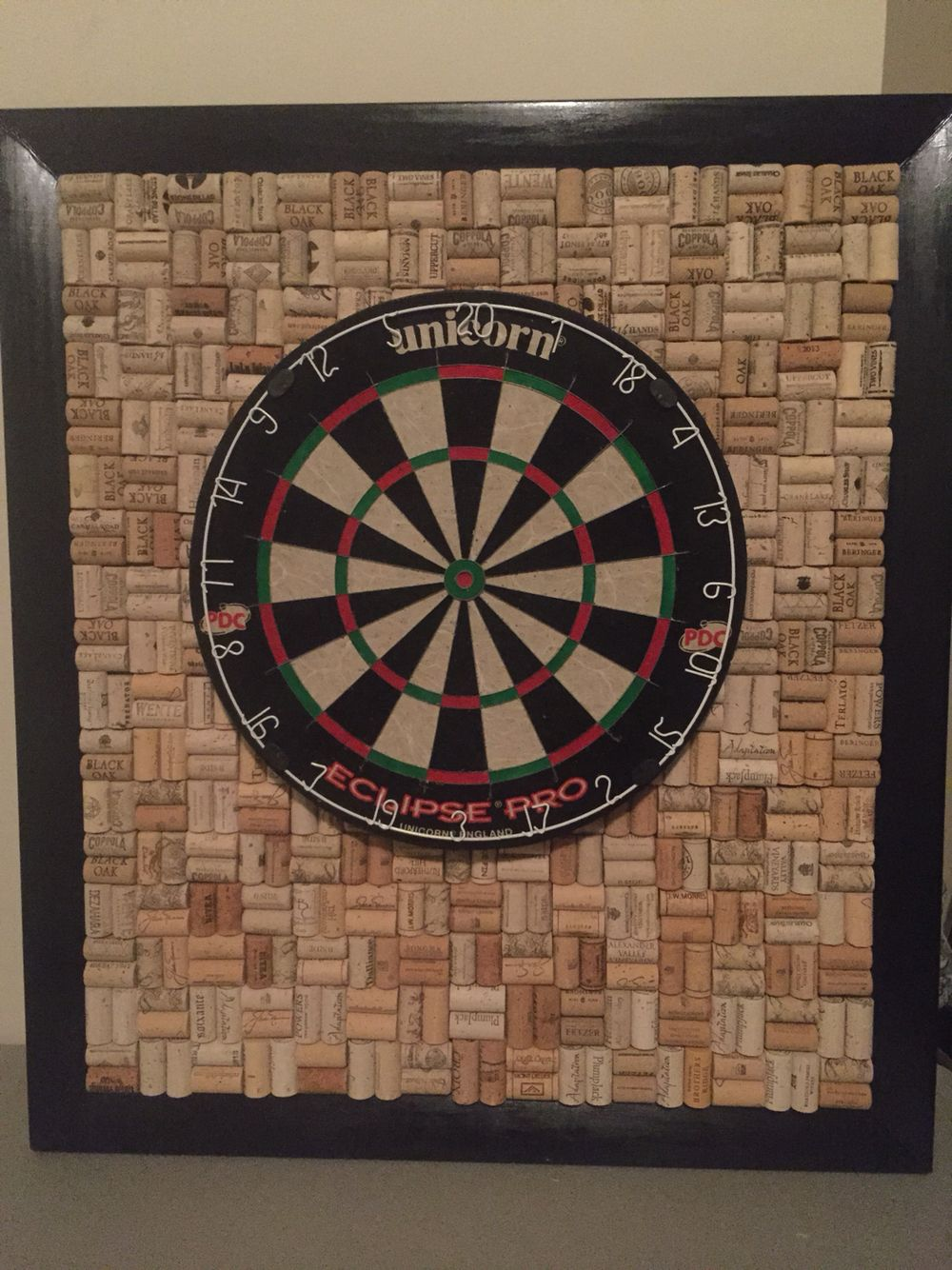 finally completed my latest project wine cork backing for a dart board crafts outdoor. Black Bedroom Furniture Sets. Home Design Ideas