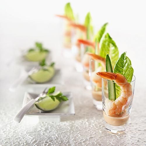 Impressive prawn cocktail creative appetizers for Canape hors d oeuvres difference