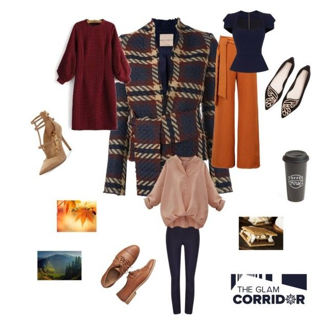 """""""The versatility of a plaid coat"""" by theglamcorridor ❤ liked on Polyvore featuring Erika Cavallini Semi-Couture, Sam Edelman, Gap, WithChic, Sophia Webster, Roland Mouret, Phase Eight and The Created Co."""