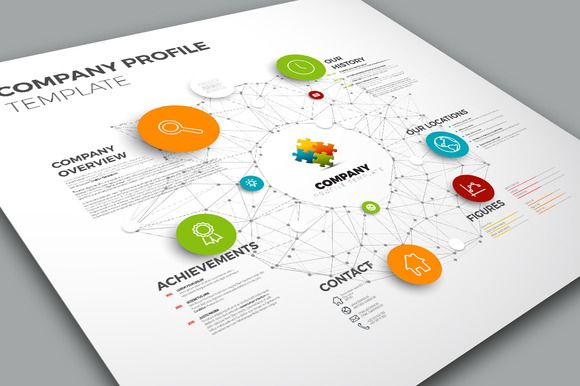 Company Profile by Orson on Creative Market My vector graphics - company profile template word format