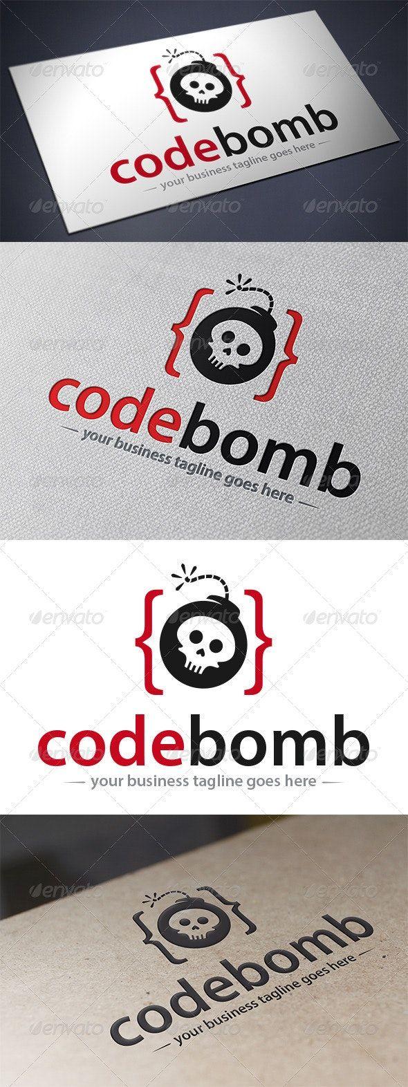 Code Bomb Logo Logo templates, Logo design template, Coding