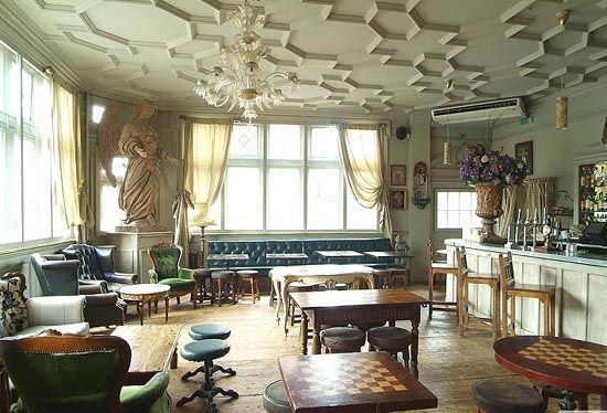 Georgian Style Interior Design Of Kensal Green Pub In London Borough B