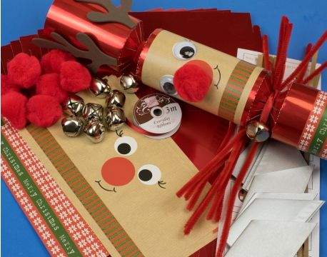 8 jumbo red foil jingle rudolph make your own christmas crackers kit 8 jumbo red foil jingle rudolph make your own christmas crackers kit the littlecraftybugs company solutioingenieria Image collections