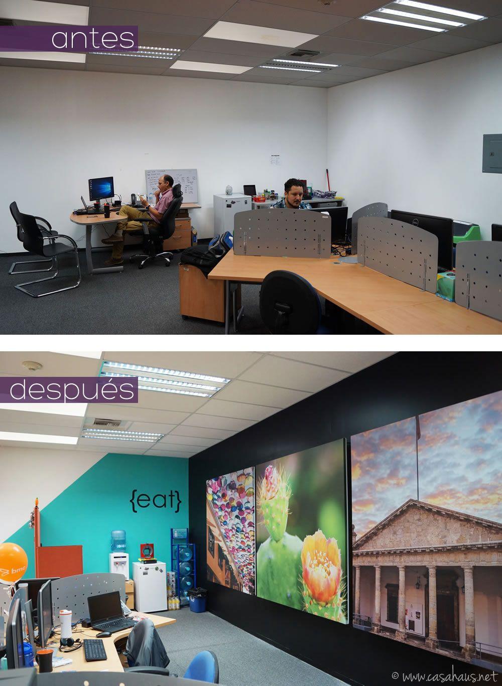 Diseño de oficinas corporativas con pintura y vinilos | Vinil ...