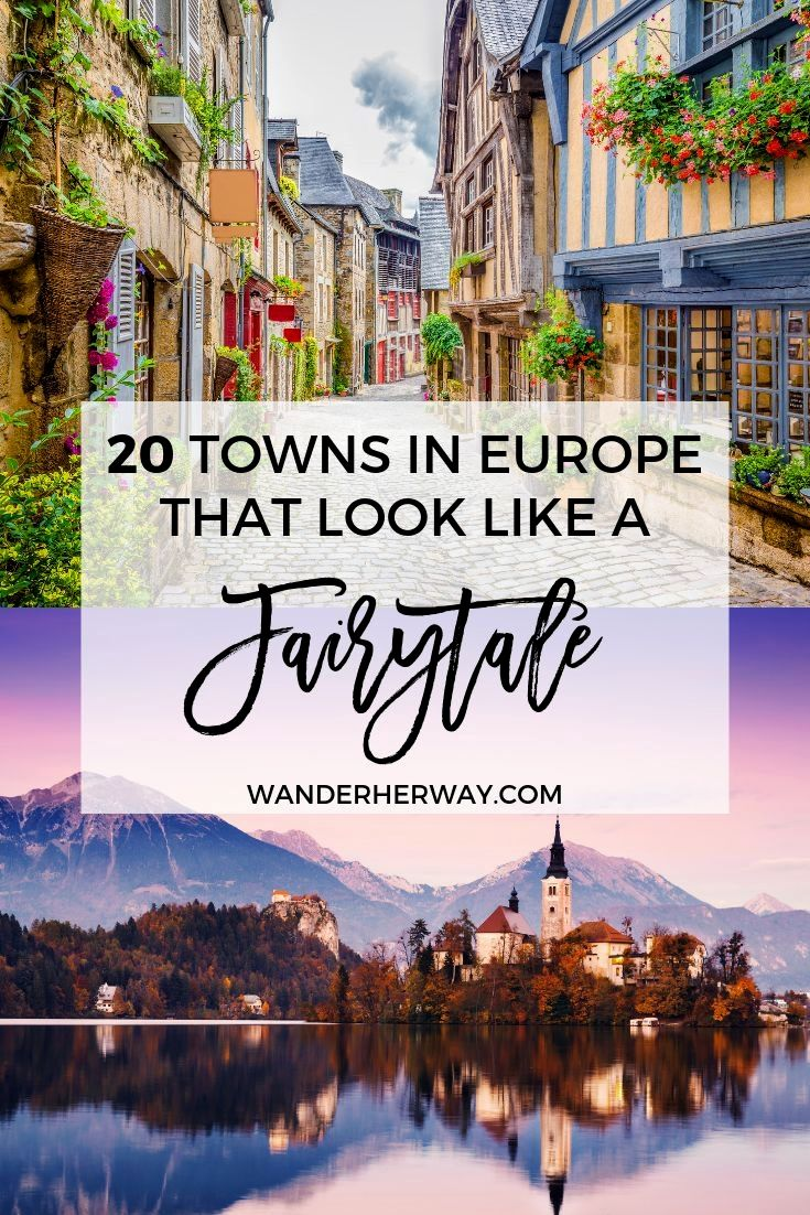 You'll feel like you walked straight into the pages of a fairytale. Add these towns to your bucket list ASAP! #europe #travel #wanderlust