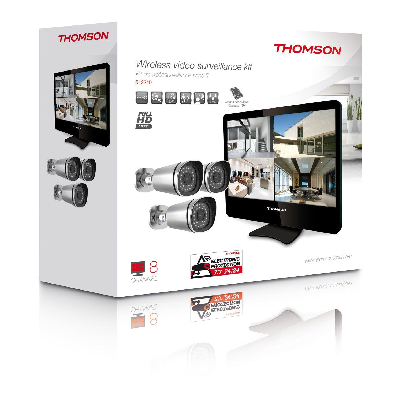 Kit De Videosurveillance Connecte Filaire Thomson Nvr 845b Camera De Surveillance Leroy Merlin Coisas Para Comprar