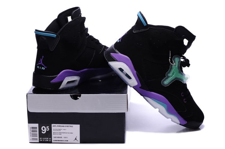 the best attitude 12297 1fa34 Nike Air Jordan AJ6 Retrocouples Jordan Retro 6 Basketball Shoes Men  Luminous Black Purple