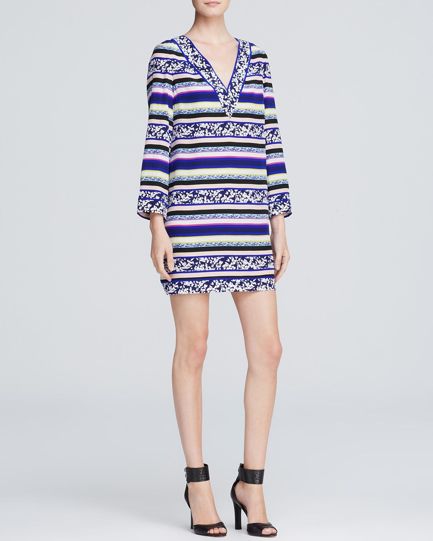 DIANE von FURSTENBERG Tunic Dress - Ruby Silk | Bloomingdale's