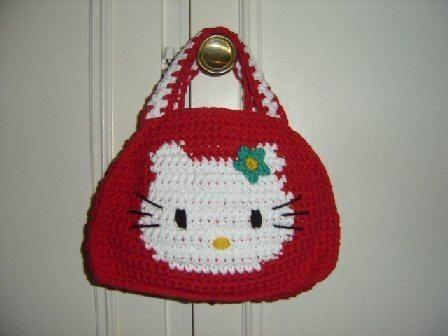Hello Kitty Örgü Çanta Modelleri - Hello Kity Örgü Çocuk Çantaları | 336x448
