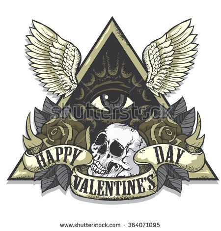 Vector tattoo-art on the theme of Valentine's Day. Tattoo-art ...