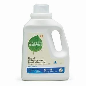 Seventh Generation Free Clear 2x Liquid Laundry Detergent 6x50