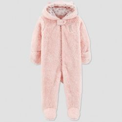 f39ee6e3d1fe Baby Girls  Sherpa Owl Pram - Just One You® made by carter s Pink ...