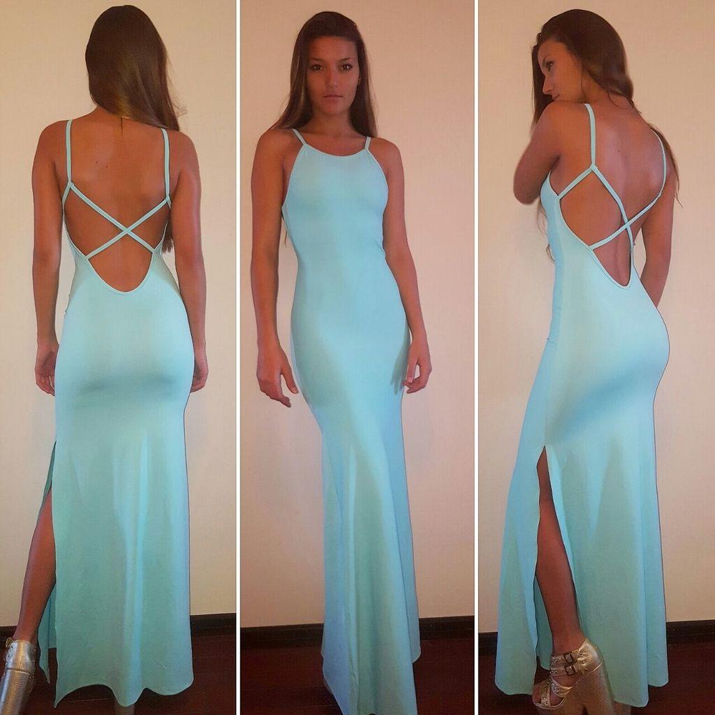 Vestido Largo Amorina | Espalda baja, Vestido largo y Espalda