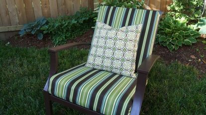 Sew Easy Way To Cover Those Old Outdoor Cushions