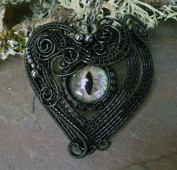 Gothic Steampunk Victorian Black Cat Heart by twistedsisterarts, $69.95