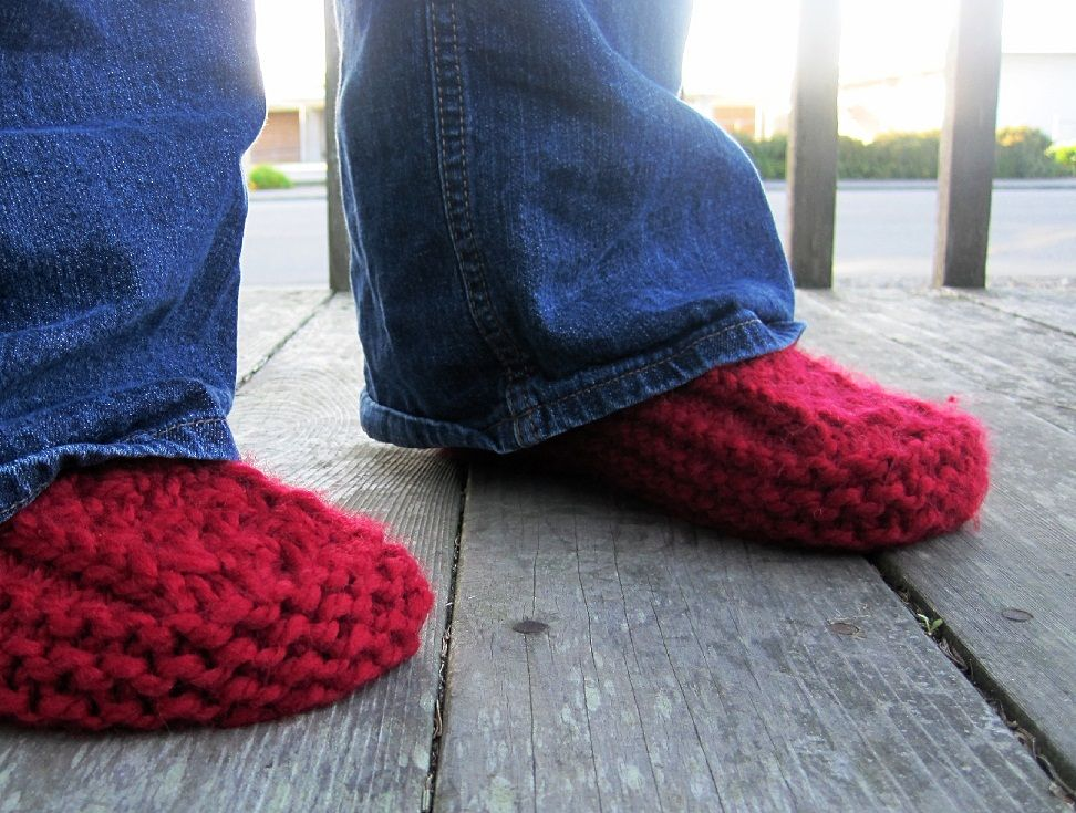 Cozy Slippers - Free Knitting Pattern uses Whisper and Cotton | Knit ...