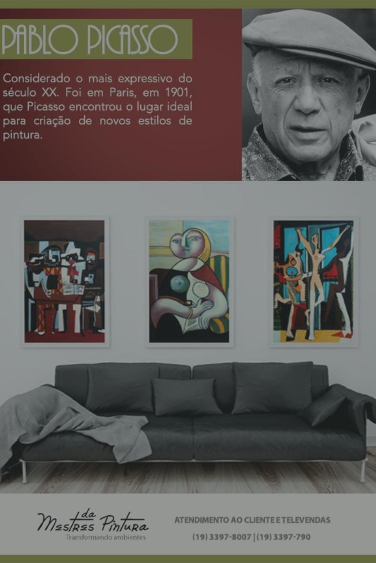 Releituras de Picasso feitas totalmente à mão em óleo sobre tela. Vale a pena conferir