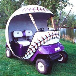 Baseball Cart Think I Need One Of These For Those Days It S Just Too Hot To Walk Golf Carts Custom Golf Carts Golf