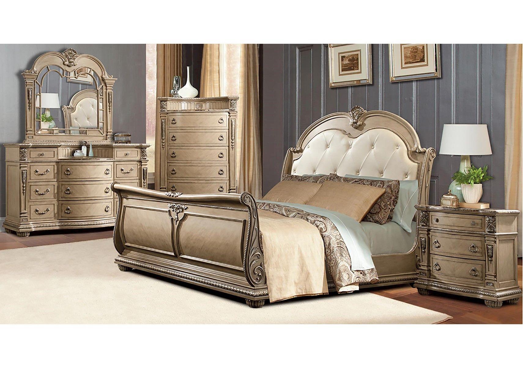 Lacks Monaco 4 Pc Queen Bedroom Set Bedroom Furniture Sets