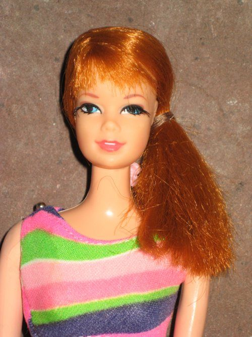 """Stacy barbie doll I had her too and she had a draw string on her back and she said in a British accent """"I think mini skirts are smashing!"""""""