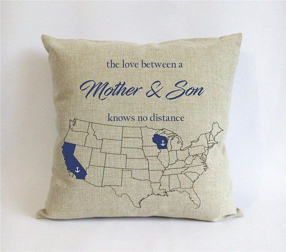 Long Distance Mother Son Pillow Case Mothers Day Gift From Nautical Birthday For Mom Xm