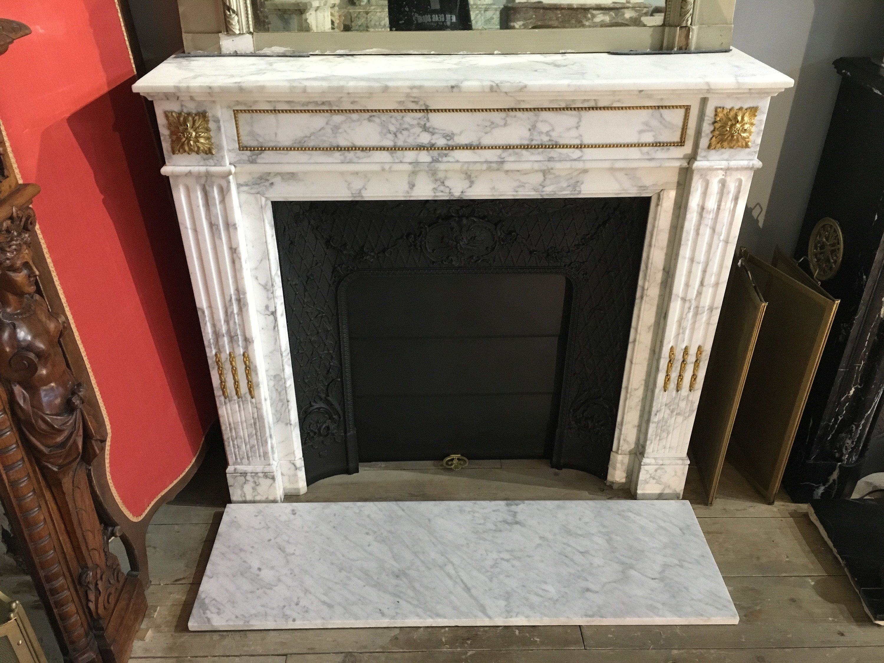 Cheminée Ancienne De Style Louis Xvi A Bronzes Home Decor Design Fireplace