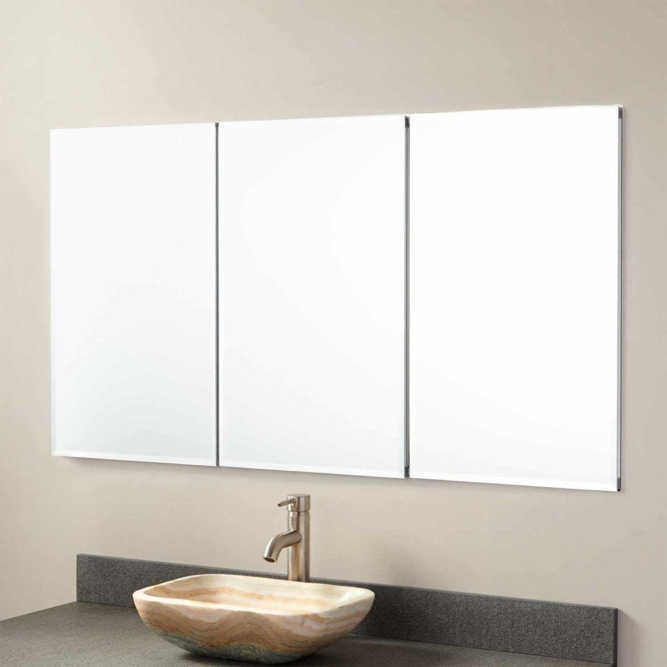 Bathrooms Cabinets:Lowes Double Sink Vanity Tri Fold Mirror Medicine ...