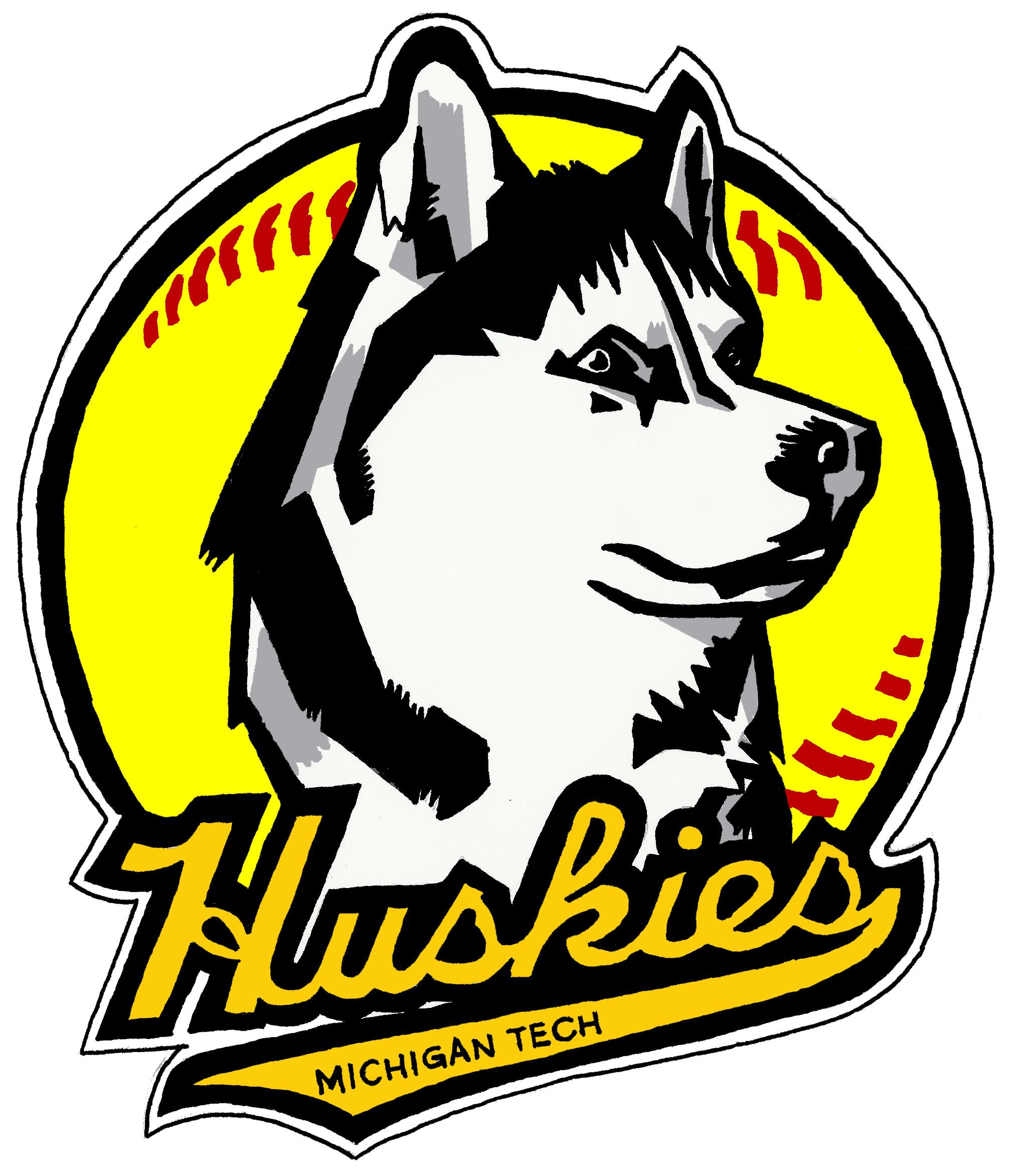 Michigan Tech Softball Logo